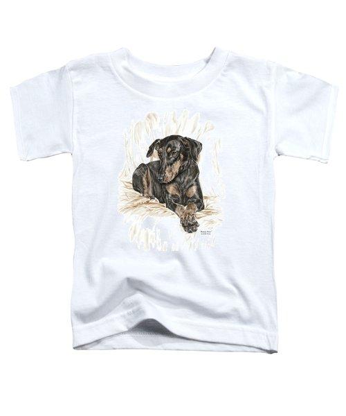 Beauty Pose - Doberman Pinscher Dog With Natural Ears Toddler T-Shirt
