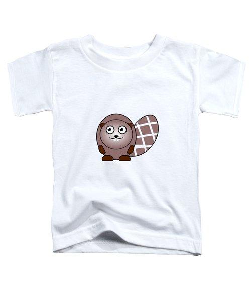 Beaver - Animals - Art For Kids Toddler T-Shirt by Anastasiya Malakhova