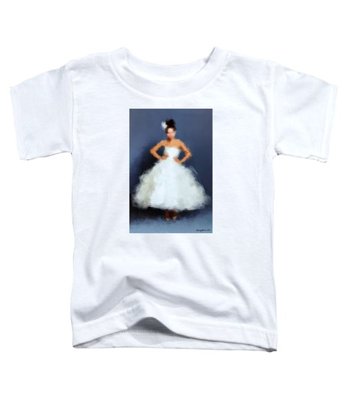 Toddler T-Shirt featuring the digital art Becky by Nancy Levan