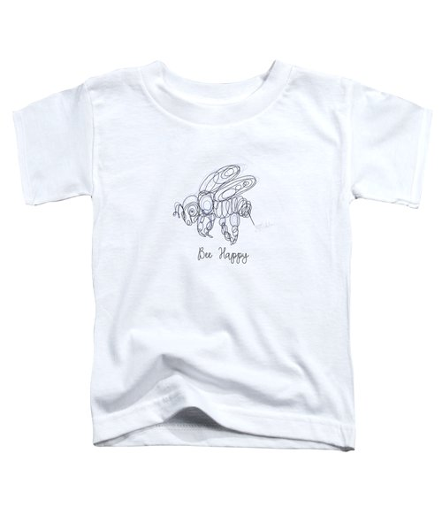 Bee Happy Sketch  Toddler T-Shirt