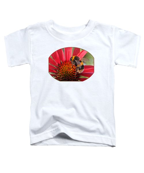 Bee On Red Coneflower 2 Toddler T-Shirt