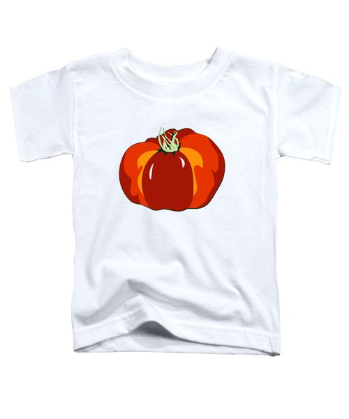 Beefsteak Tomato Toddler T-Shirt by MM Anderson
