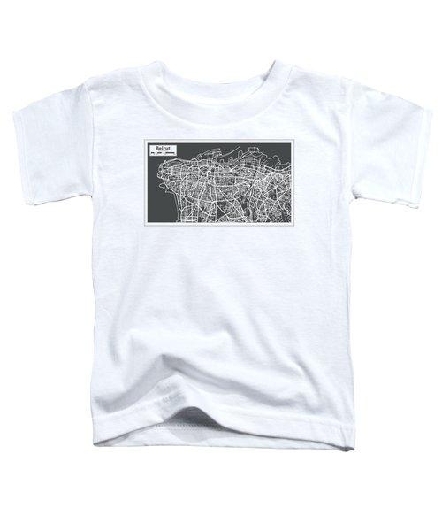 Beirut Lebanon City Map In Retro Style. Toddler T-Shirt