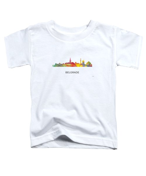 Belgrade Serbia Skyline Toddler T-Shirt