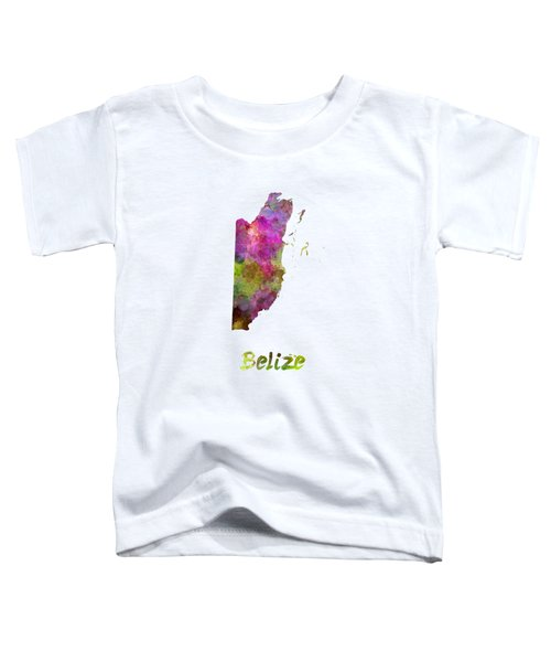 Belize In Watercolor Toddler T-Shirt