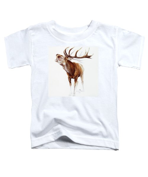 Belling Stag Watercolor Toddler T-Shirt