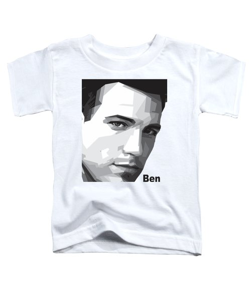 Ben Affleck Portrait Art Toddler T-Shirt by Madiaz Roby