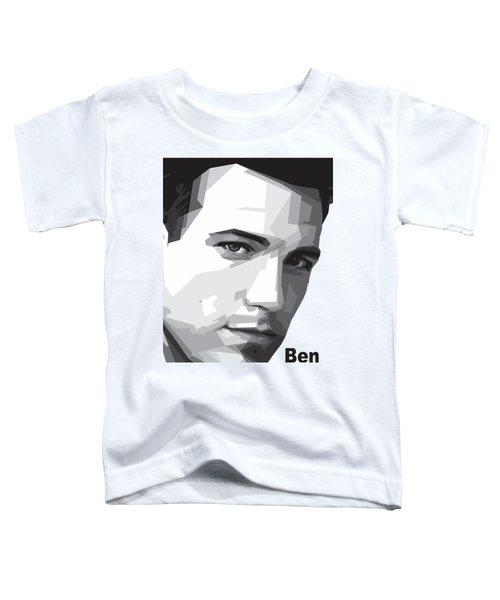 Ben Affleck Portrait Art Toddler T-Shirt