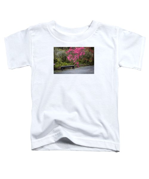 Bench In Azalea Garden Toddler T-Shirt