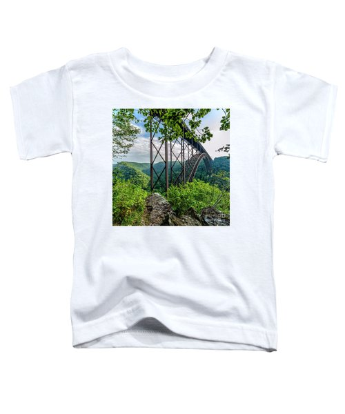 Beneath New River Gorge Bridge Toddler T-Shirt