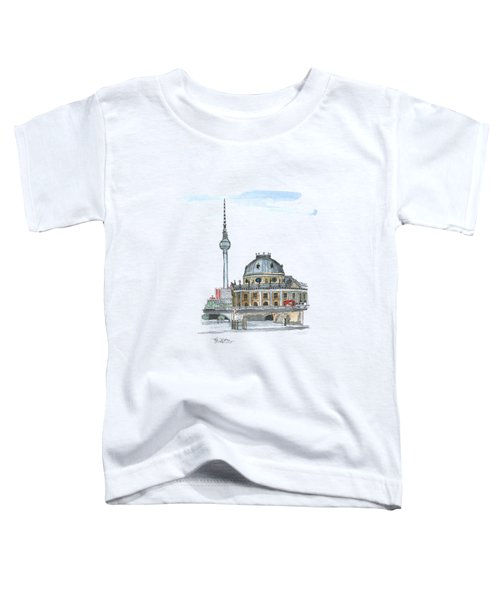 Berlin Fernsehturm Toddler T-Shirt by Petra Stephens