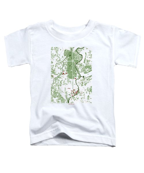 Berlin Minimal Map Toddler T-Shirt by Jasone Ayerbe- Javier R Recco