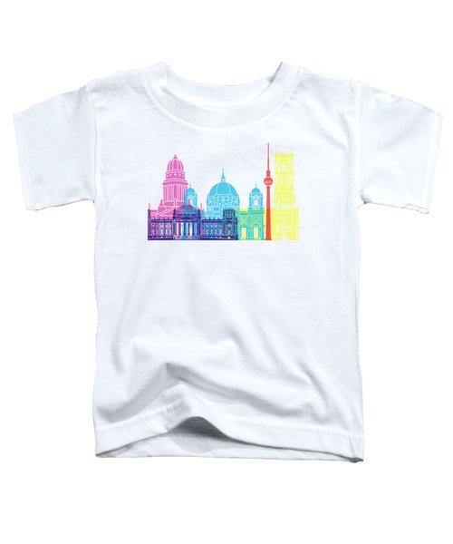 Berlin V2 Skyline Pop Toddler T-Shirt by Pablo Romero