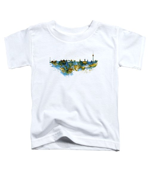 Berlin Watercolor Skyline Toddler T-Shirt by Marian Voicu