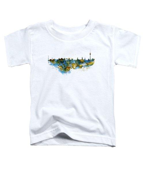 Berlin Watercolor Skyline Toddler T-Shirt