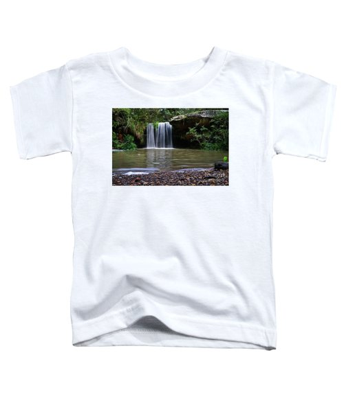 Toddler T-Shirt featuring the photograph Berowra Waterfall by Werner Padarin