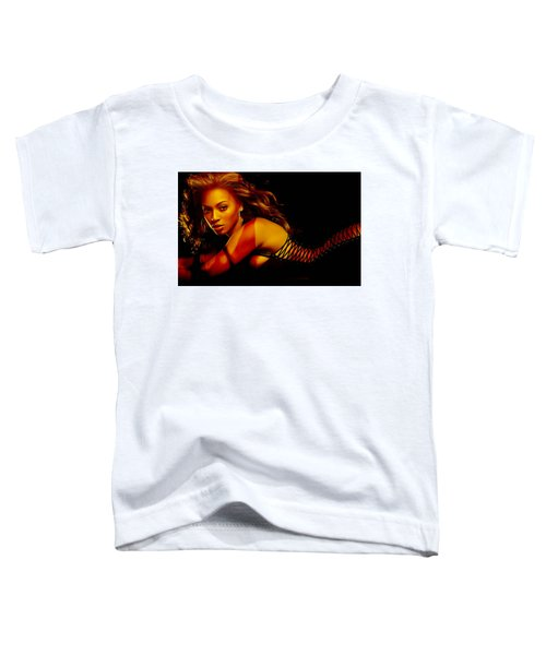 Toddler T-Shirt featuring the mixed media Beyonce by Marvin Blaine