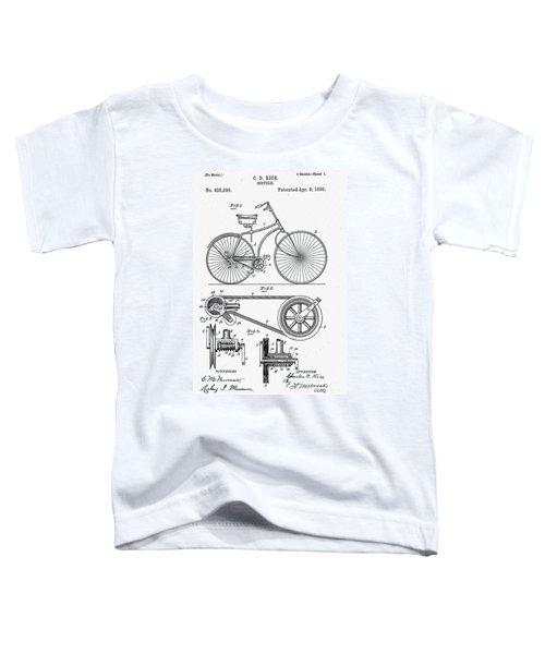 Bicycle Patent 1890 Toddler T-Shirt