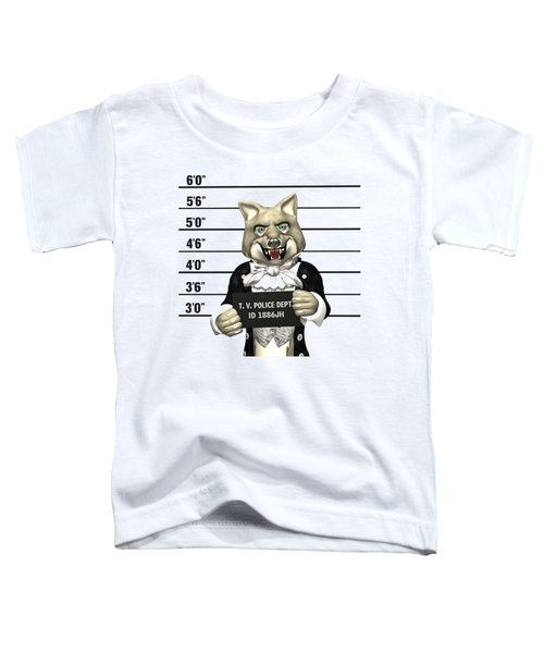 Big Bad Wolf Mugshot Toddler T-Shirt by Methune Hively
