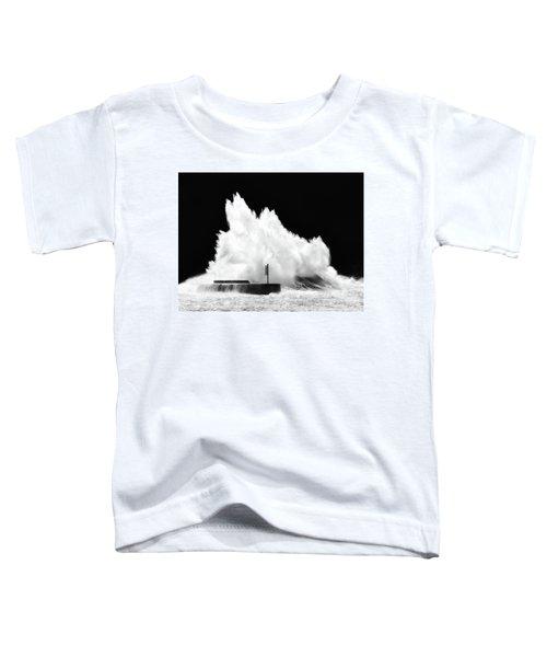 Big Wave Breaking On Breakwater Toddler T-Shirt
