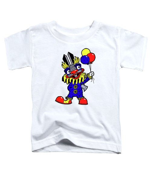 Binky The Bunny Clown Toddler T-Shirt by Bizarre Bunny