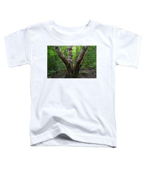 Birch Bark Tree Trunks Toddler T-Shirt