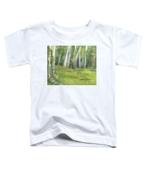 Birch Trees And Spring Field Toddler T-Shirt