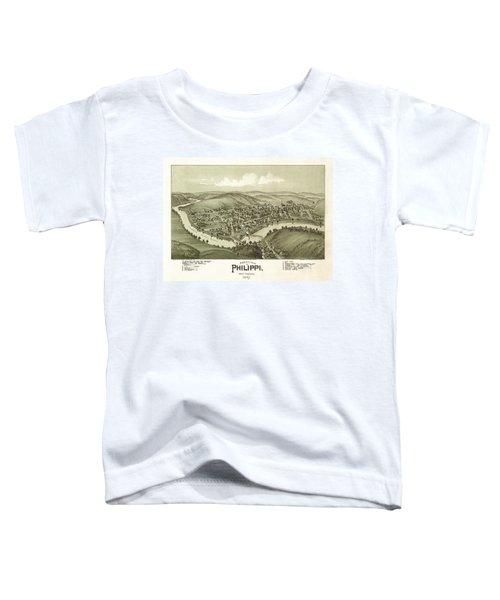 Bird's Eye View Of Philippi, West Virginia 1897 Toddler T-Shirt