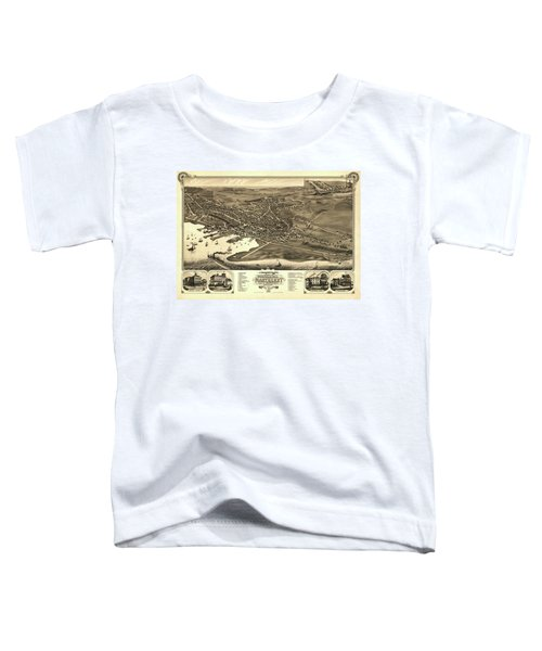 Bird's Eye View Of The Town Of Nantucket In The State Of Massachusetts Toddler T-Shirt