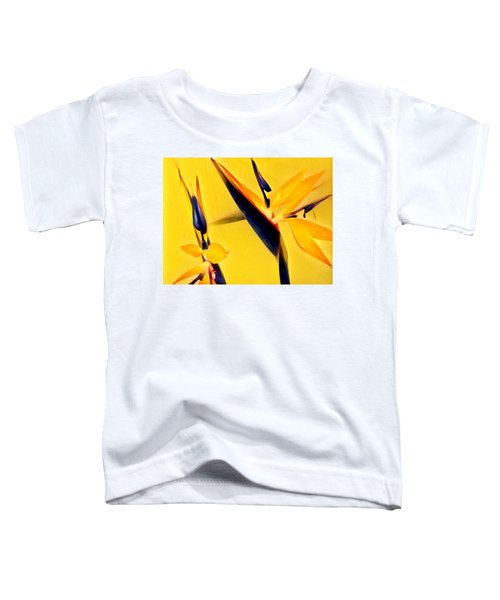 Birds Of Paradise - Two In Gold Toddler T-Shirt