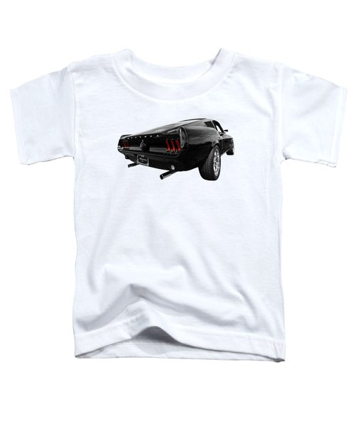 Black 1967 Mustang Toddler T-Shirt