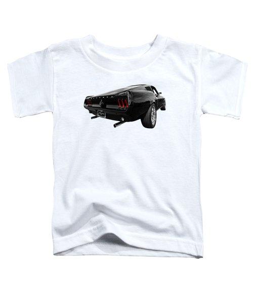 Black 1967 Mustang Toddler T-Shirt