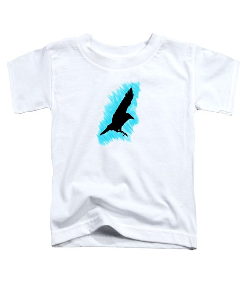Black And Blue Toddler T-Shirt by Linsey Williams