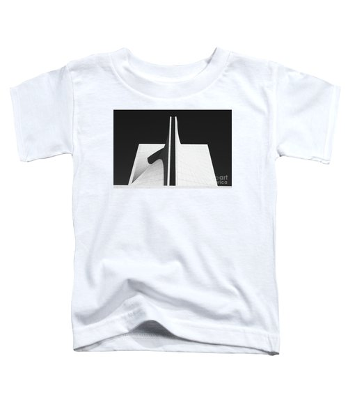 Toddler T-Shirt featuring the photograph Black And White Building by MGL Meiklejohn Graphics Licensing