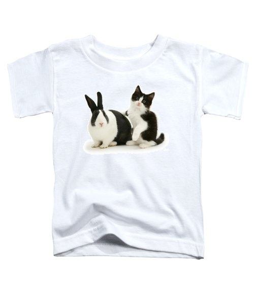 Black And White Double Act Toddler T-Shirt