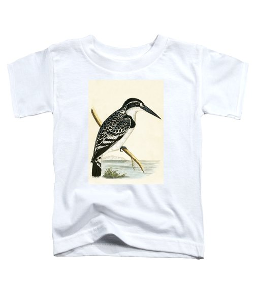 Black And White Kingfisher Toddler T-Shirt by English School