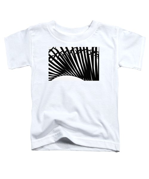 Black And White Palm Branch Toddler T-Shirt