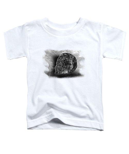 Black And White Skull On Transparent Background Toddler T-Shirt