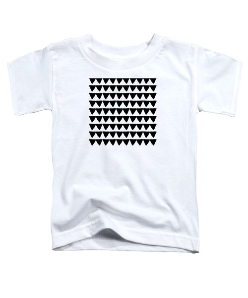 Black And White Triangles- Art By Linda Woods Toddler T-Shirt