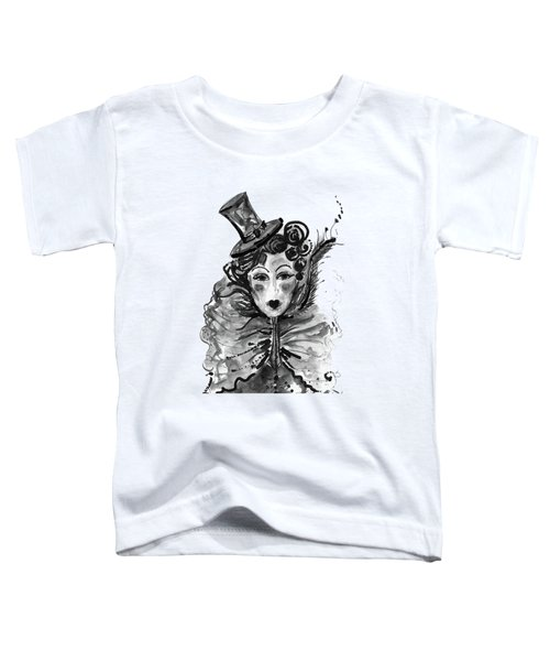 Black And White Watercolor Fashion Illustration Toddler T-Shirt