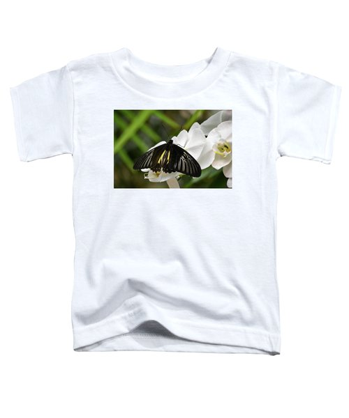 Black Butterfly Toddler T-Shirt