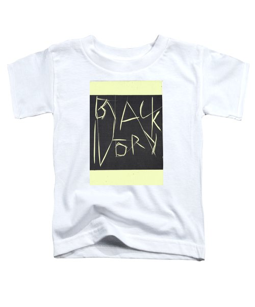 Black Ivory Title Page Toddler T-Shirt