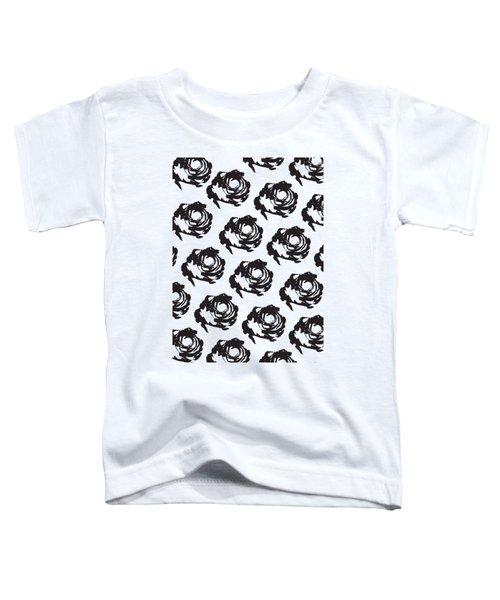 Black Rose Pattern Toddler T-Shirt