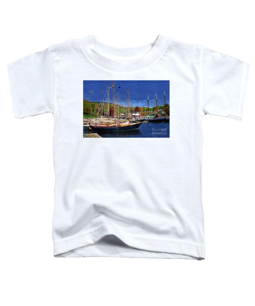 Black Sailboats Toddler T-Shirt
