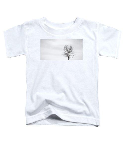 Black Tree White Sky Toddler T-Shirt