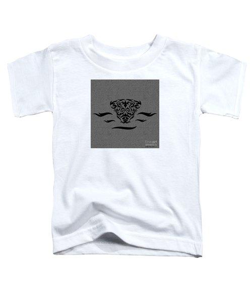 Black Tribal Gator Toddler T-Shirt