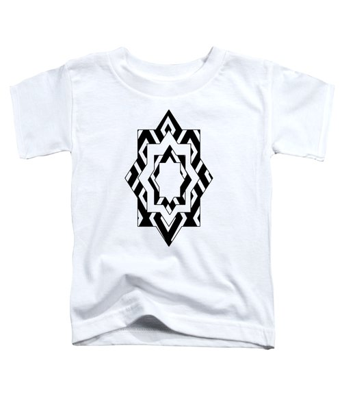 Black White Pattern Art Toddler T-Shirt