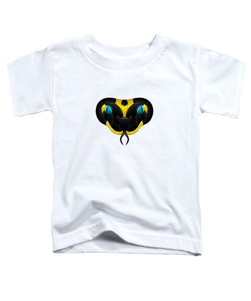 Black-yellow Snake With Blue Eyes Toddler T-Shirt