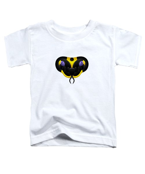 Black-yellow Snake With Purple Eyes Toddler T-Shirt