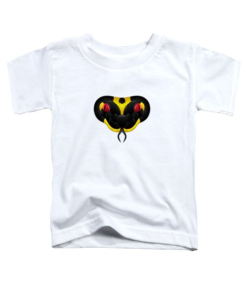 Black-yellow Snake With Red Eyes Toddler T-Shirt